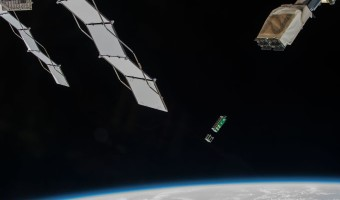 Mining craft deployed by ISS