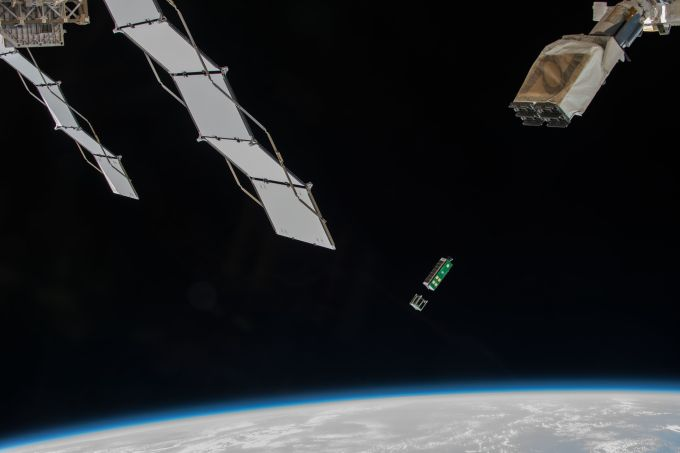 A3R deploying from the ISS Kibo Airlock (NASA image)