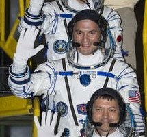 Space station welcomes trio
