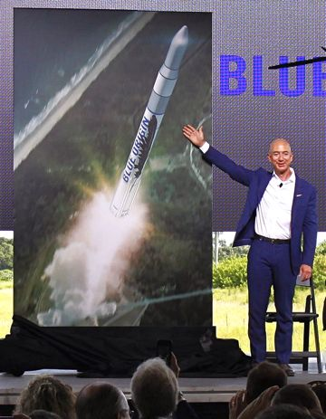 Jeff Bezos at Cape Canaveral