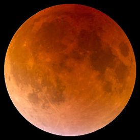 Moon blood red