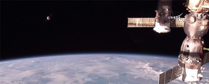 progress at space station ISS