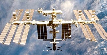 space station in orbit