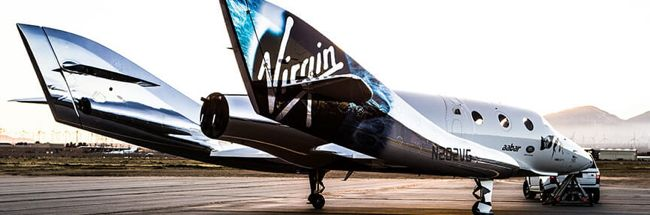 Virgin's Unity on tarmac