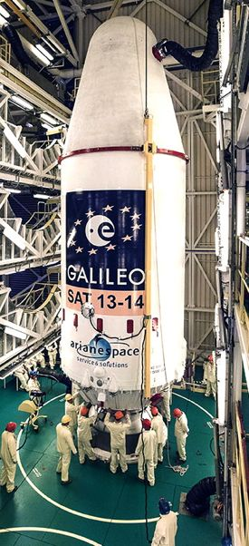 Galileo satellite preparation