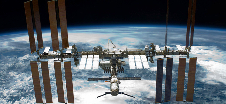 Space Station seen from Space Shuttle Endeavour