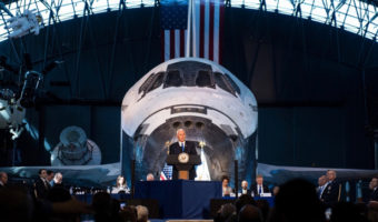 Pence eyes Moon, Mars missions